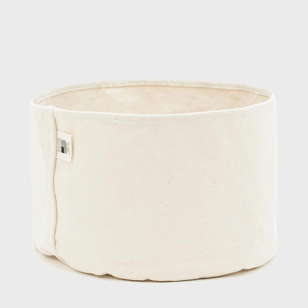 BLK PINE Large Canvas Planter Bucket Natural