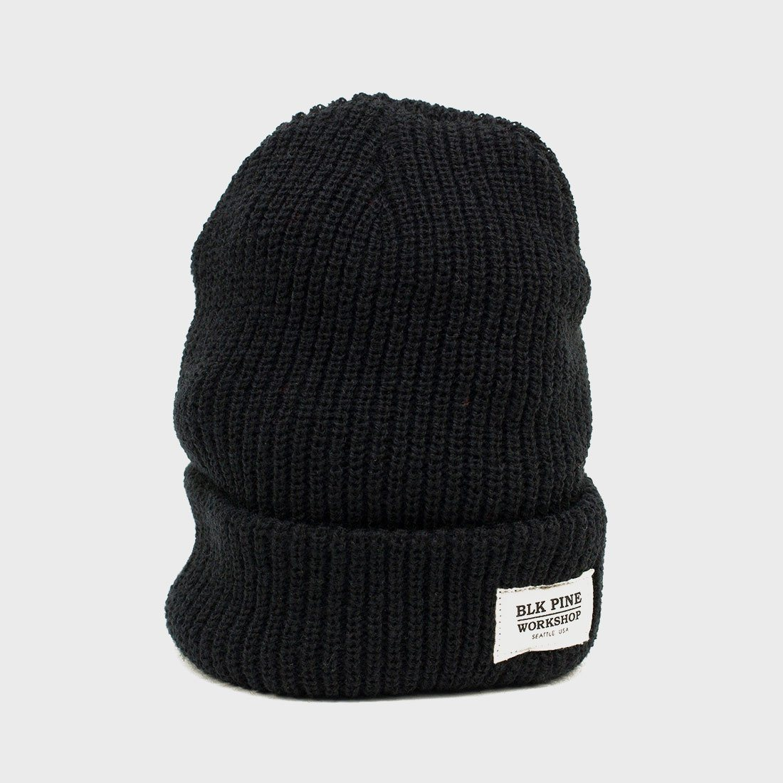 BLK PINE Single Gauge Beanie Black