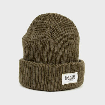 product: BLK PINE Single Gauge Beanie Olive