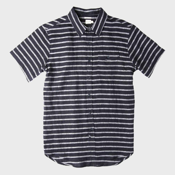 product: Bridge & Burn Thomas Navy Stripe
