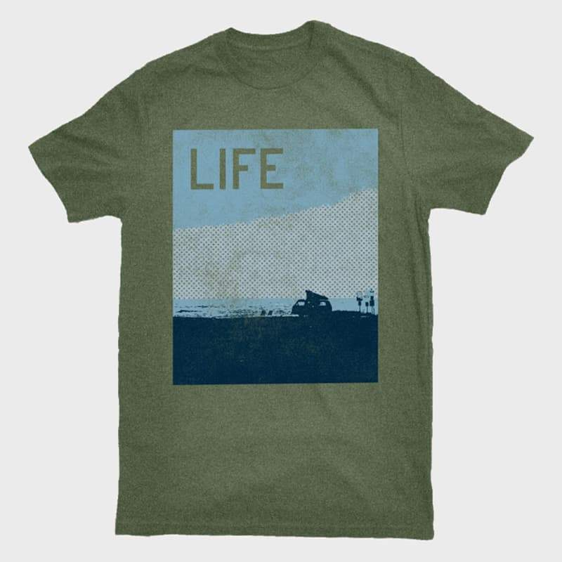 Bridge & Burn Van Life Tee Olive Heather