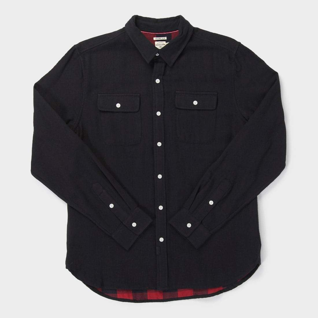 Bridge & Burn Cole Shirt Black Doublecloth