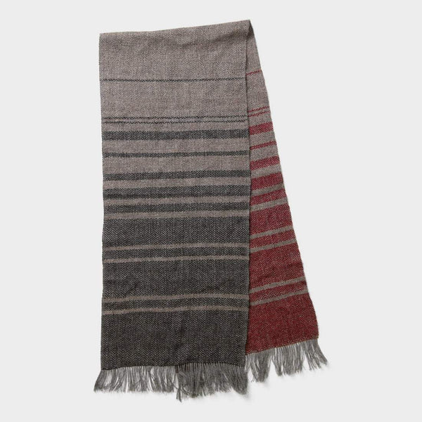 product: Bridge & Burn Gradient Scarf Burgundy