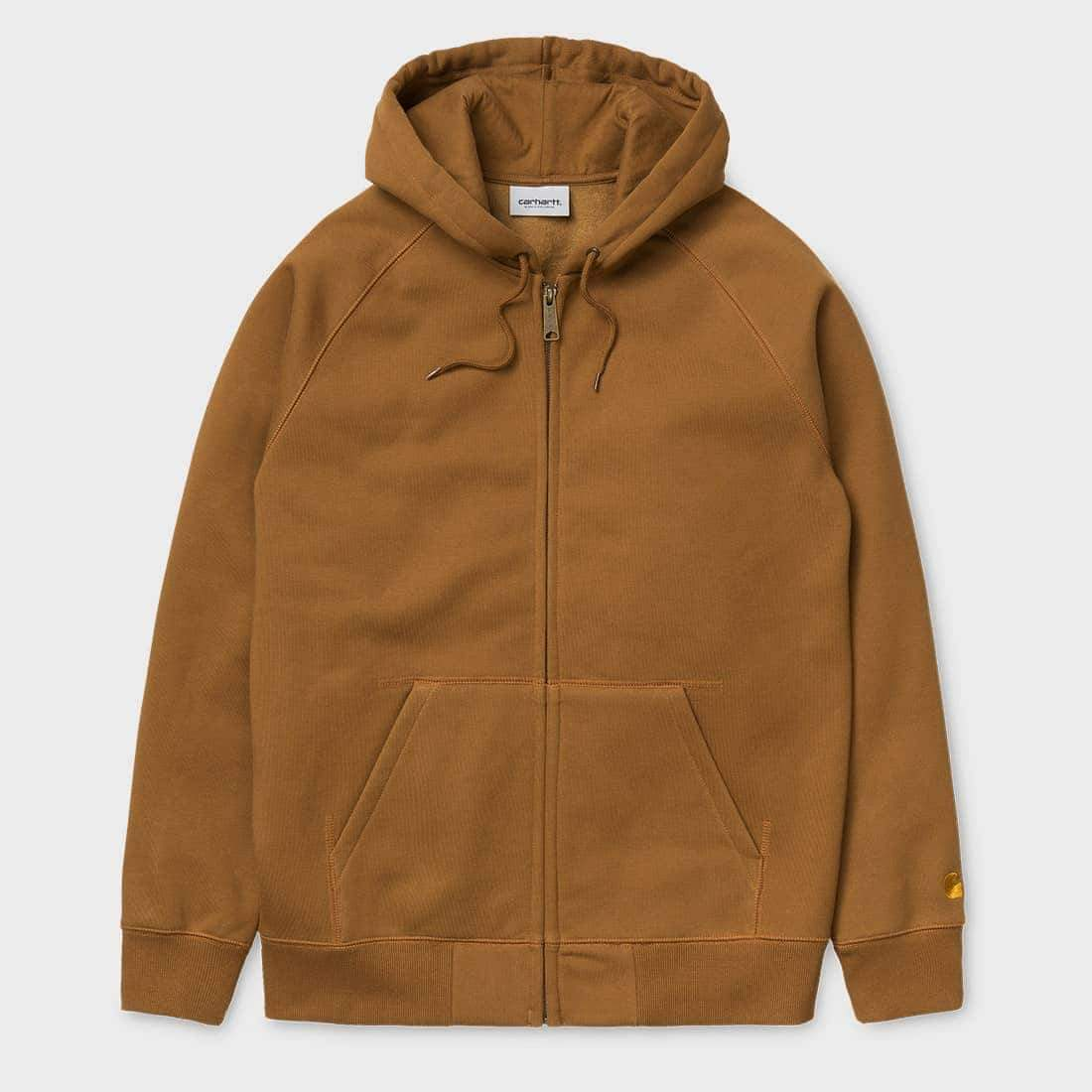 Carhartt WIP Hooded Chase Jacket Hamilton Brown / Gold