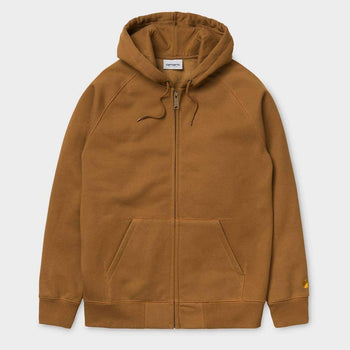 product: Carhartt WIP Hooded Chase Jacket Hamilton Brown / Gold
