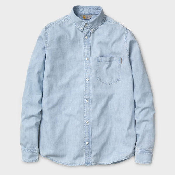 product: Carhartt WIP L/S Civil Shirt Blue Stone Bleached