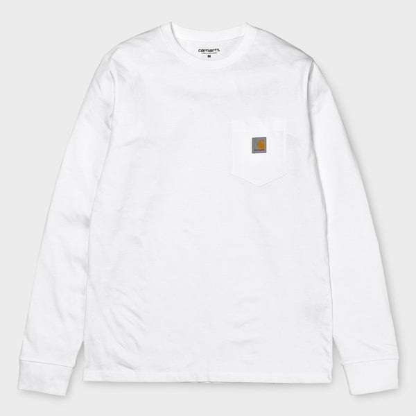 product: Carhartt WIP L/S Pocket T-Shirt White