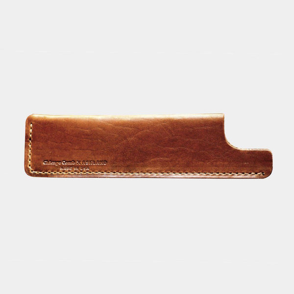product: Chicago Comb Leather Comb Case English Tan