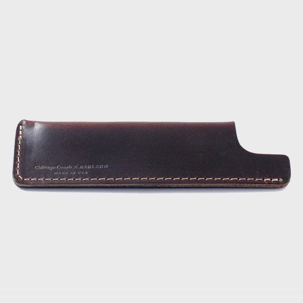 product: Chicago Comb Leather Comb Case Mahogany Brown