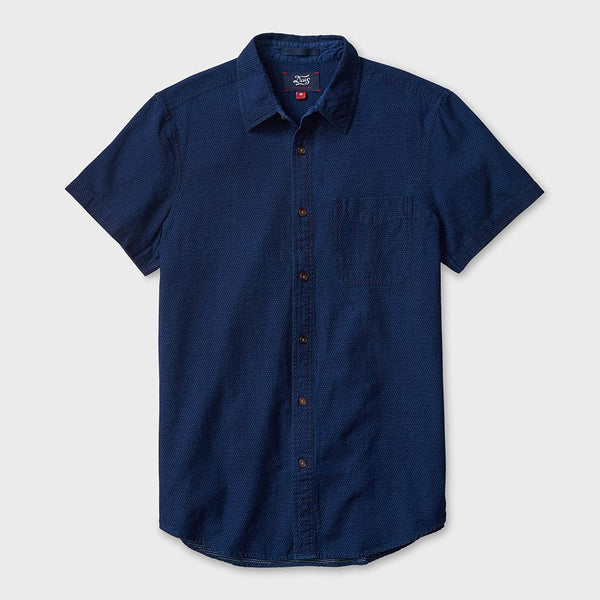 product: Deus Ex Machina Ralph Indigo Dobby Dark Wash