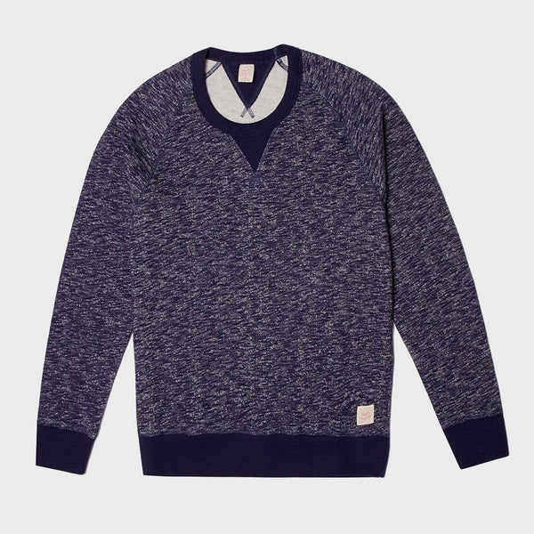 product: Deus Ex Machina Terry Slub Crew Navy Marie