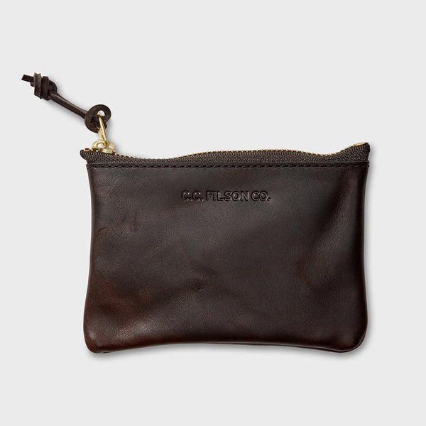 product: Filson Small Leather Pouch Brown