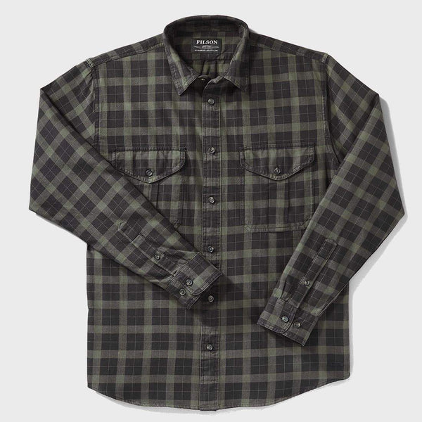 product: Filson Lightweight Alaskan Guide Shirt Black/Charcoal