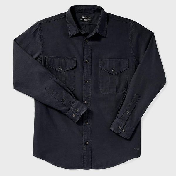 product: Filson Lightweight Alaskan Guide Shirt Midnight Navy