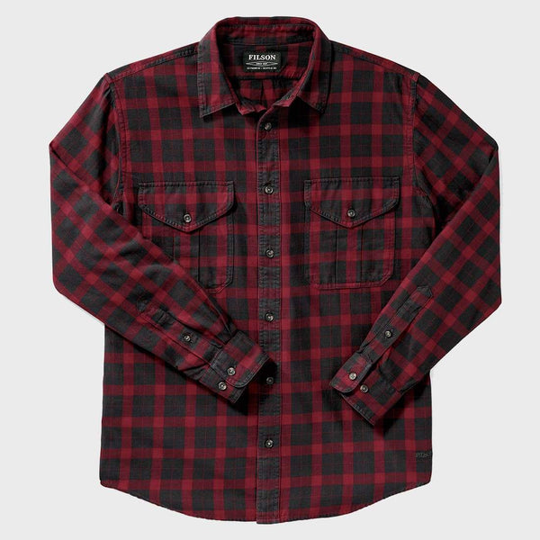 product: Filson Lightweight Alaskan Guide Shirt Black/Red