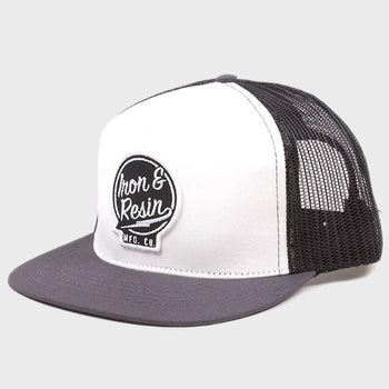 product: Iron & Resin Sparky Hat White/Charcoal