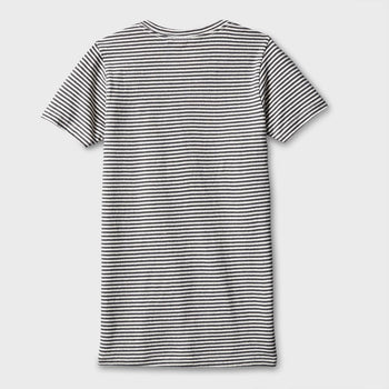 product: Jungmaven Yarn Dyed Short Sleeve T-shirt 7 oz Diesel Gray Stripe