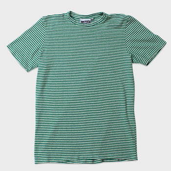 product: Jungmaven Yarn Dyed Short Sleeve Tee 7 oz Diesal Gray Stripe