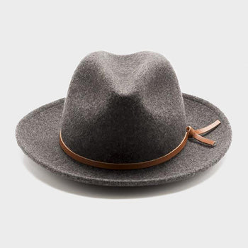 product: Yellow 108 Unisex Luke Fedora EJ Grey
