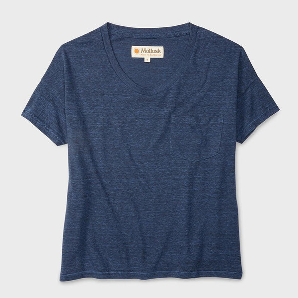 product: Mollusk Bexley Tee Blue Heather