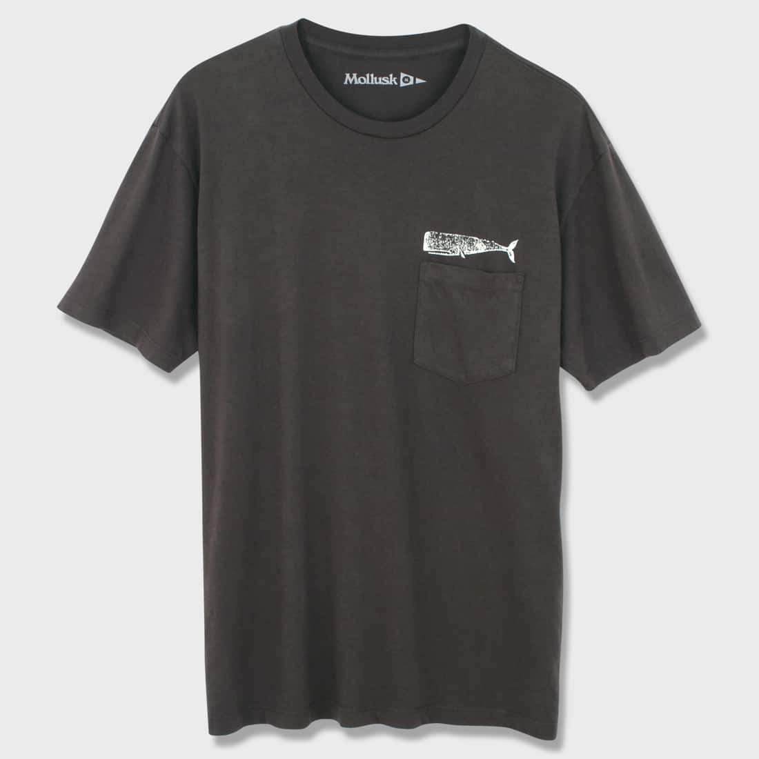 Mollusk Olde Whale T-shirt Faded Black