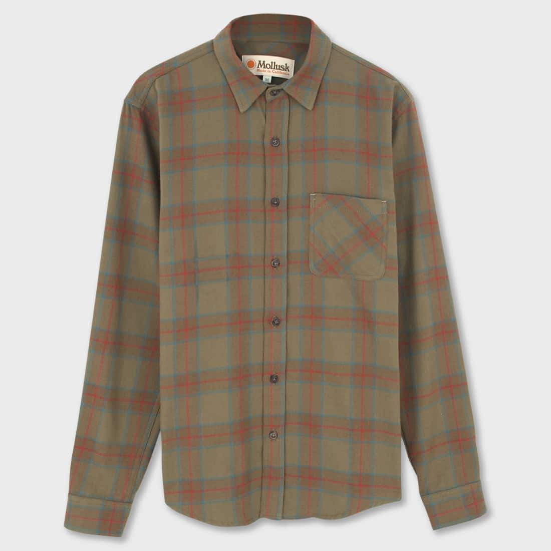 Mollusk One Pocket Shirt Tobacco Plaid