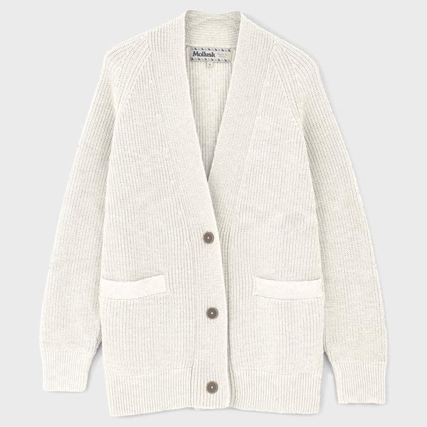 product: Mollusk Cove Cardigan Natural