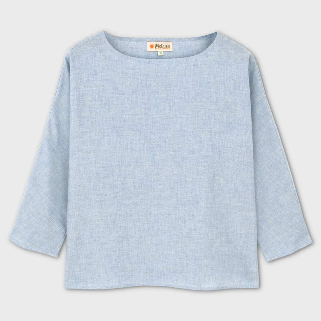 Mollusk Hirakie Shirt Sky Blue