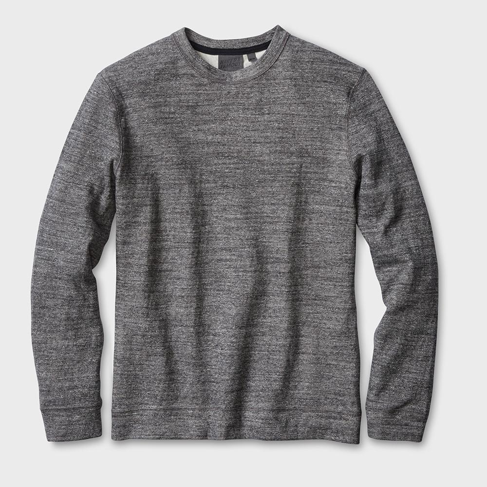 Naked & Famous Weekend Crew Vintage Doubleface Charcoal
