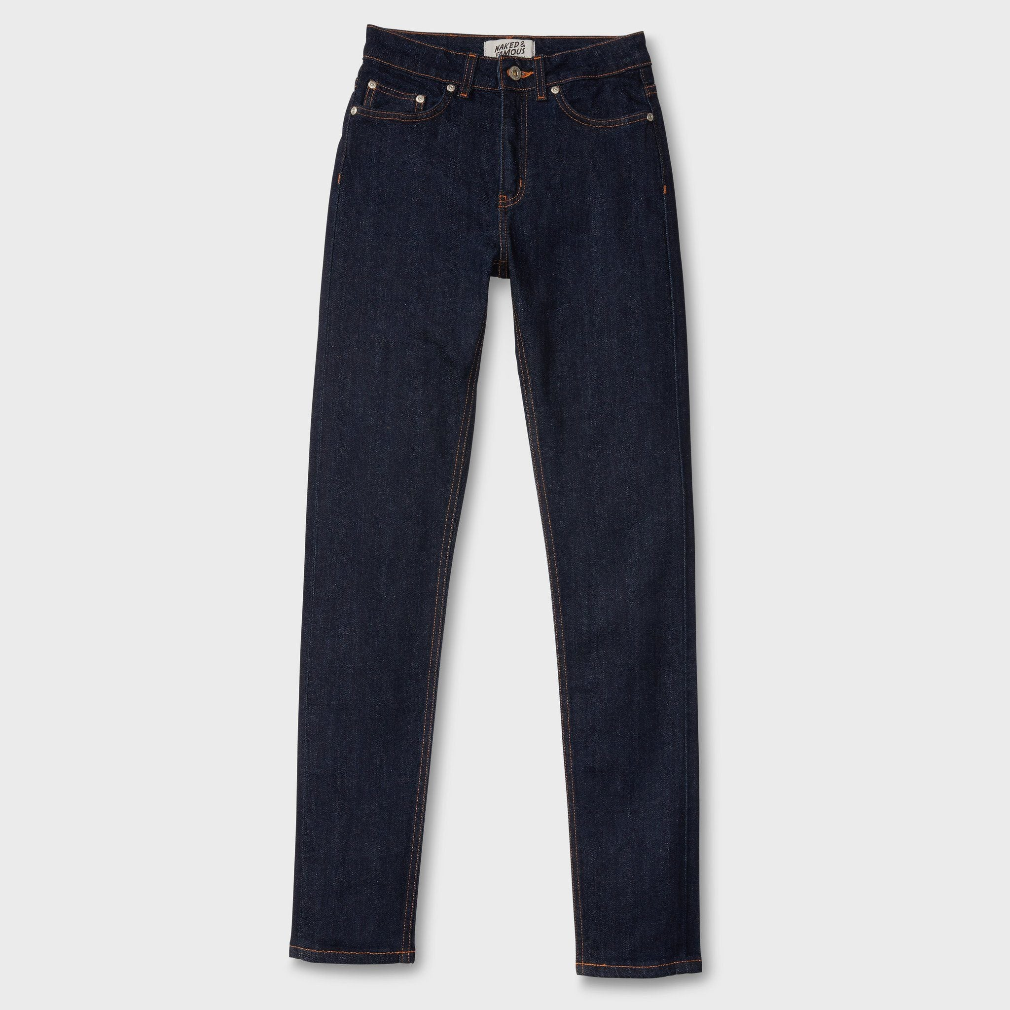 Naked & Famous Women's 11oz Stretch Selvedge High Skinny Indigo