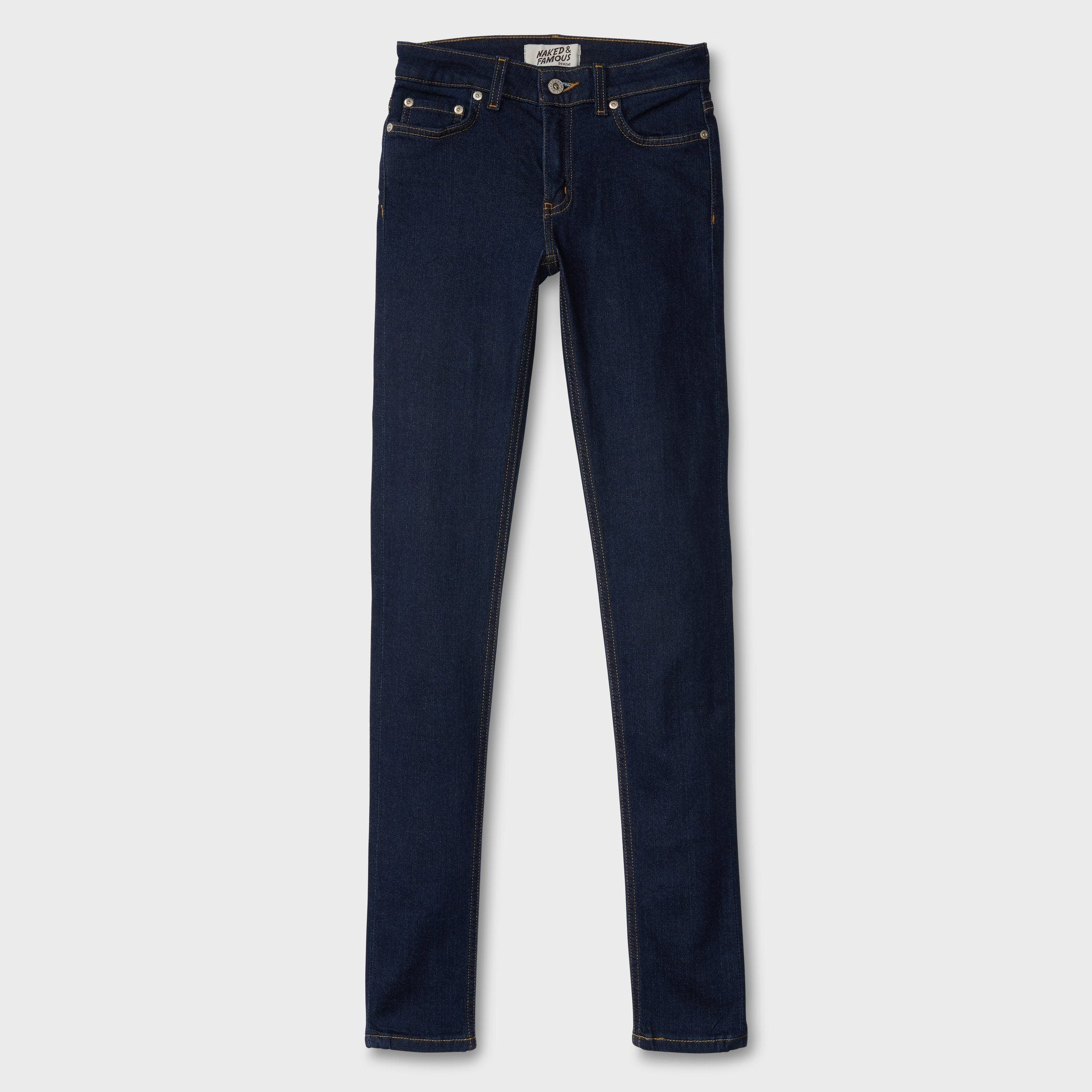 Naked & Famous Women's Ultra Soft Stretch Skinny Indigo