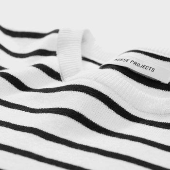 product: Norse Projects Christa Dry Cotton Crewneck Black / White
