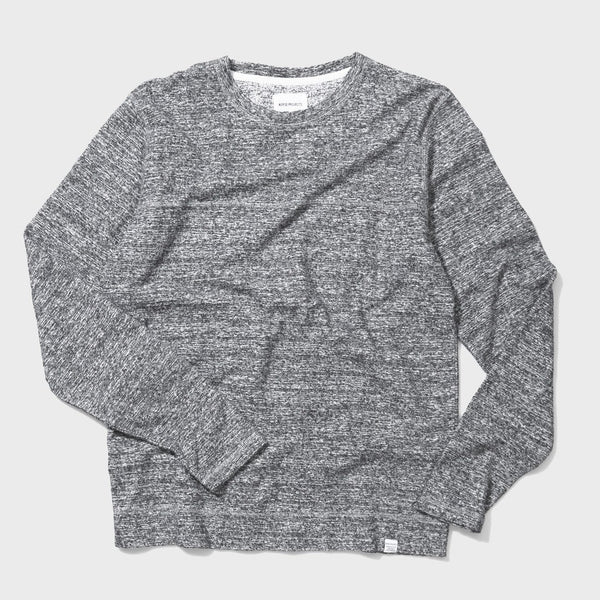 product: Norse Projects Halfdan Contrast Flame Crewneck Mouse Grey Melange