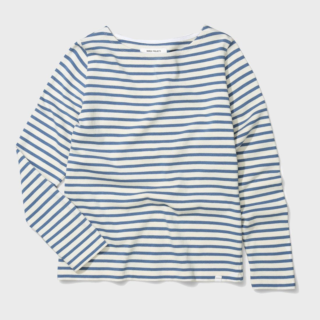 Norse Projects Inge Classic Stripe L/S Coronet Blue