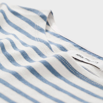 product: Norse Projects Inge Classic Stripe L/S Coronet Blue