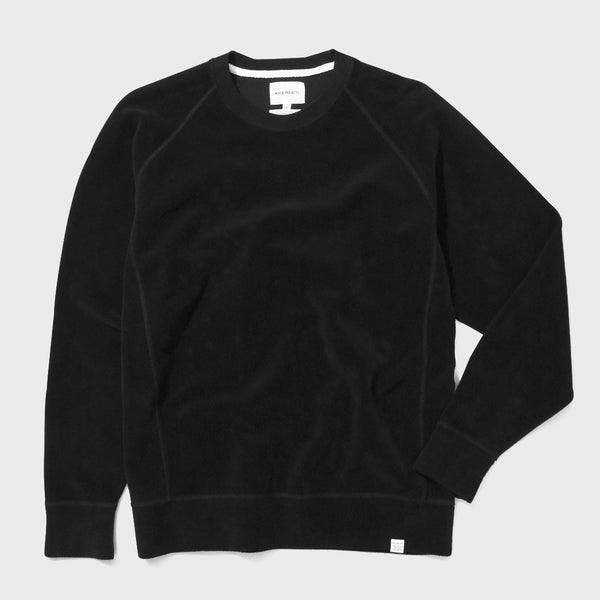 product: Norse Projects Ketel Crewneck Solid Brushed Black