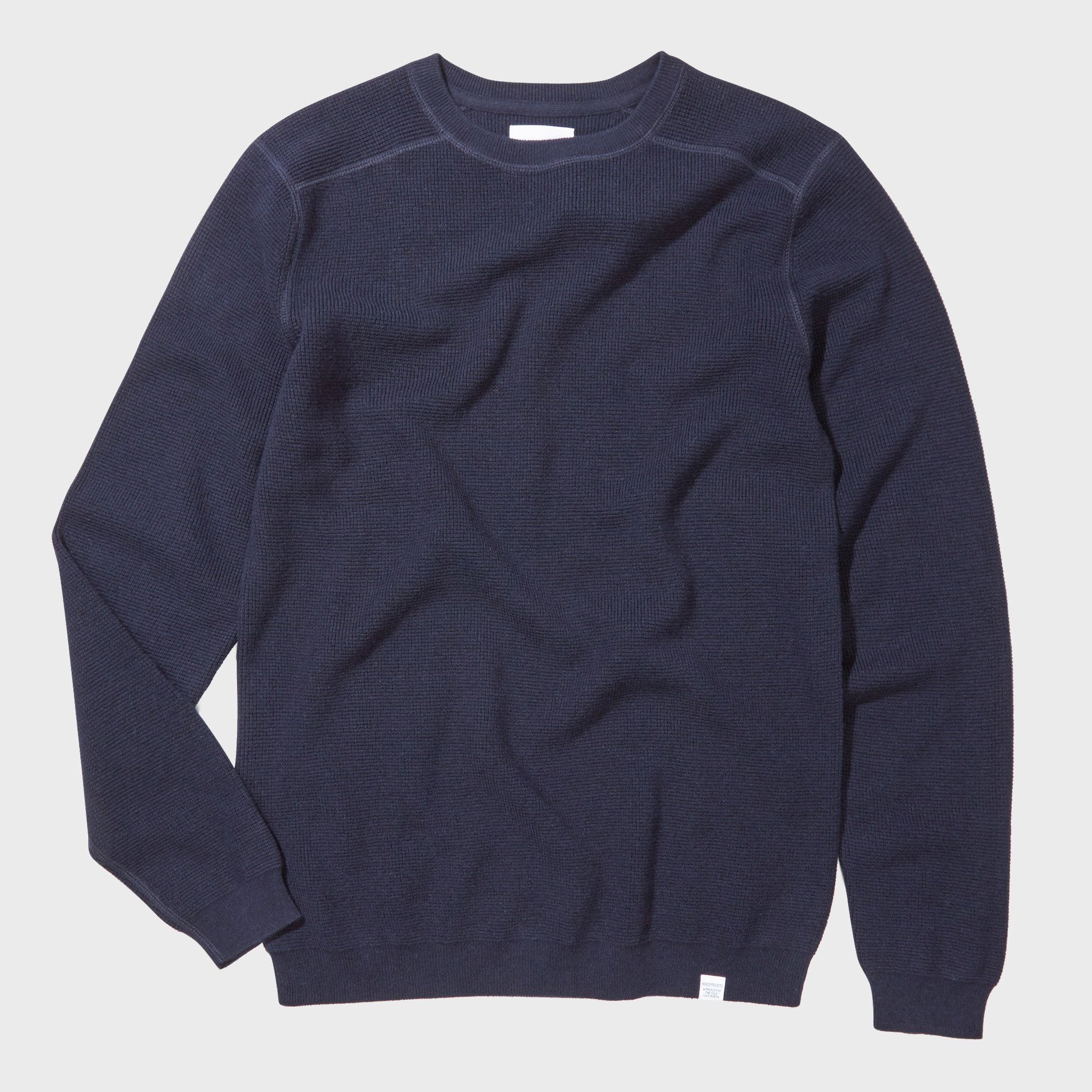 Norse Projects Lauge Waffle Crew Navy