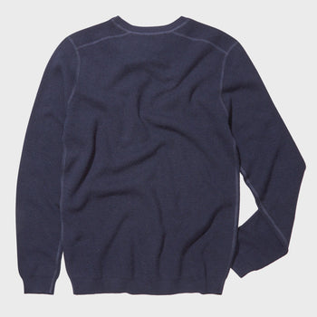 product: Norse Projects Lauge Waffle Crewneck Navy