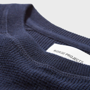 product: Norse Projects Ketel Classic Crewneck Navy