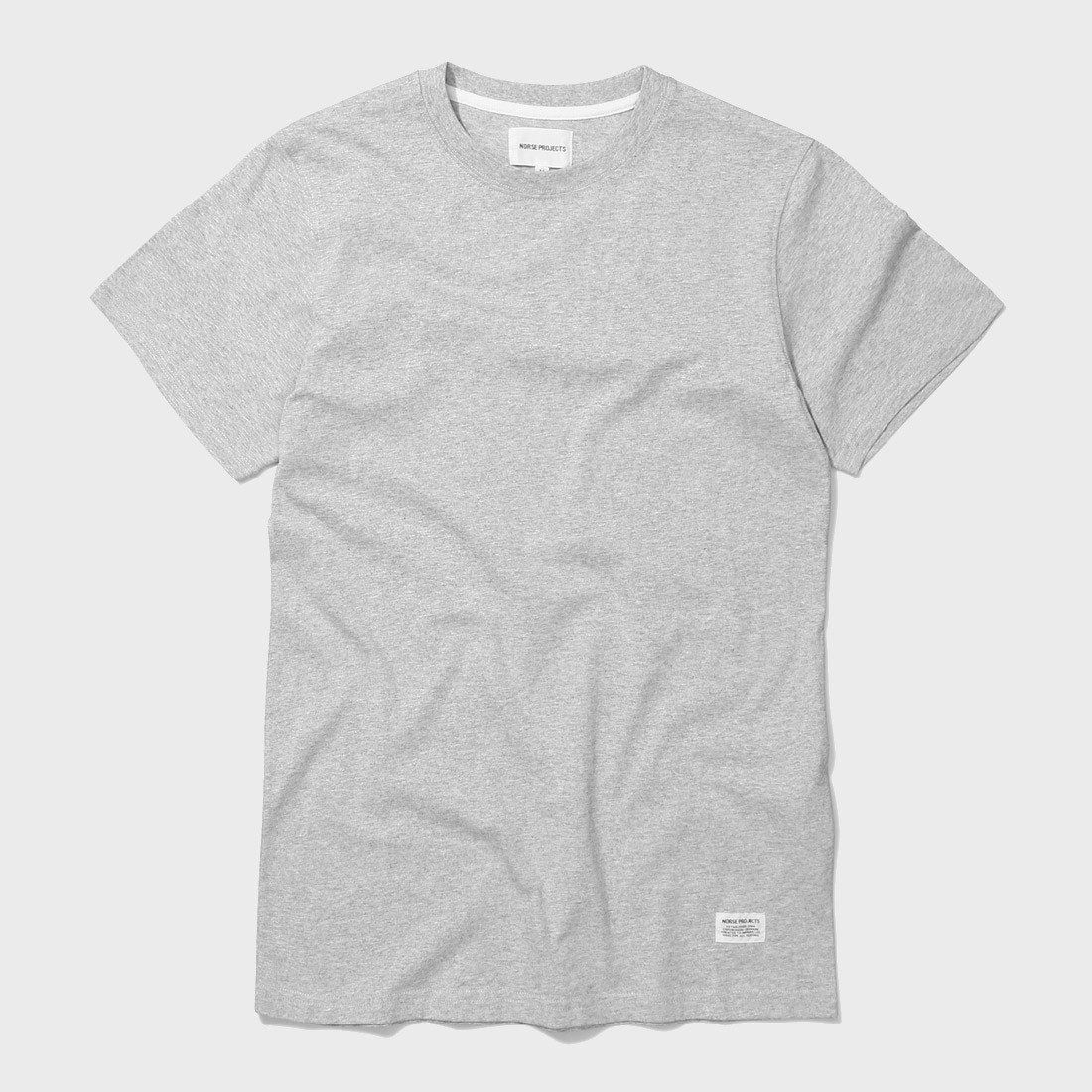 Norse Projects Niels Basic SS T shirt Light Grey Melange