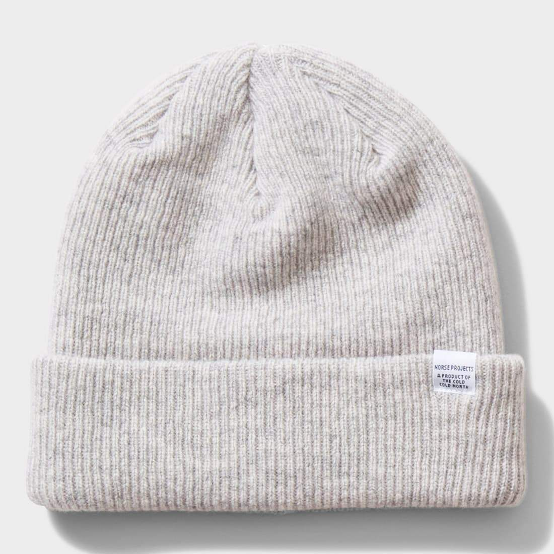 e4afa8dca Norse Projects Norse Beanie Light Grey Melange