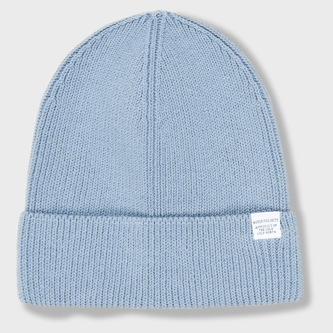 Norse Projects Cotton Watch Beanie Marginal Blue