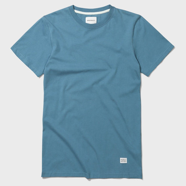 product: Norse Projects Niels Basic SS Marginal Blue