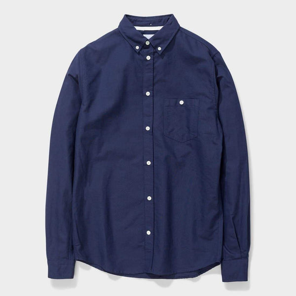 product: Norse Projects Anton Oxford Dark Navy