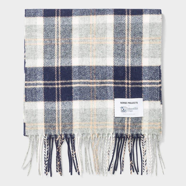 product: Norse Projects Norse x Johnstons Check Scarf Light Grey Melange