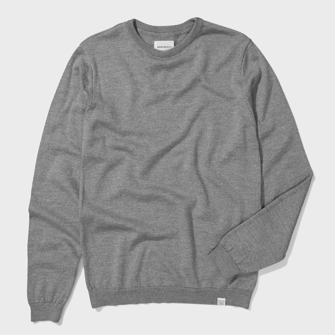 Norse Projects Sigfred Merino Crew Light Grey Melange