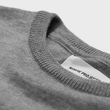product: Norse Projects Sigfred Merino Crewneck Light Grey Melange