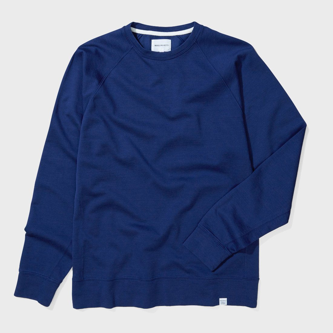 Norse Projects Vorm Mercerised Crew Compound Blue