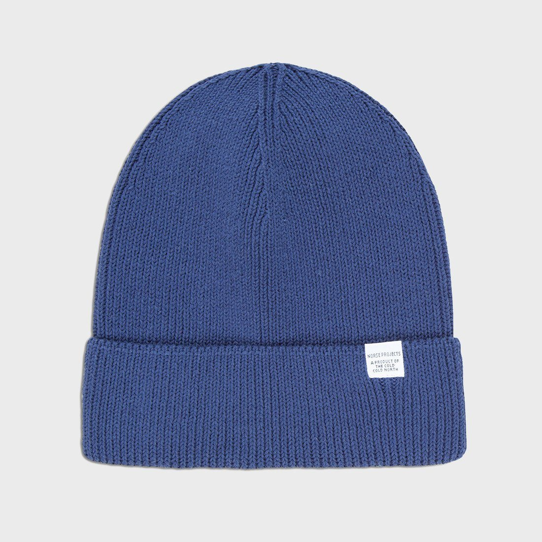Norse Projects Cotton Watch Beanie Navy