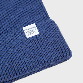 product: Norse Projects Cotton Watch Beanie Navy